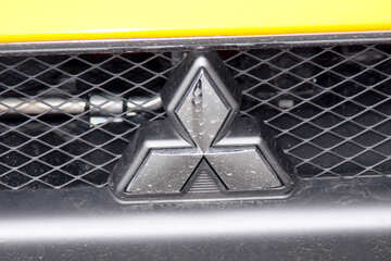 Mitsubishi company logo on the hood №897