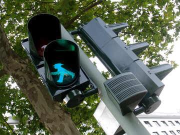 Grüne Ampel für Fußgänger №222