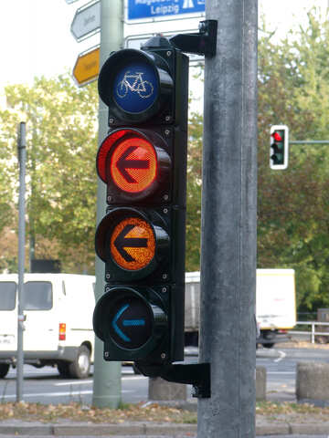 Traffic lights with arrows for cyclists №224