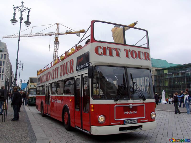 Red storey Tour Bus №239