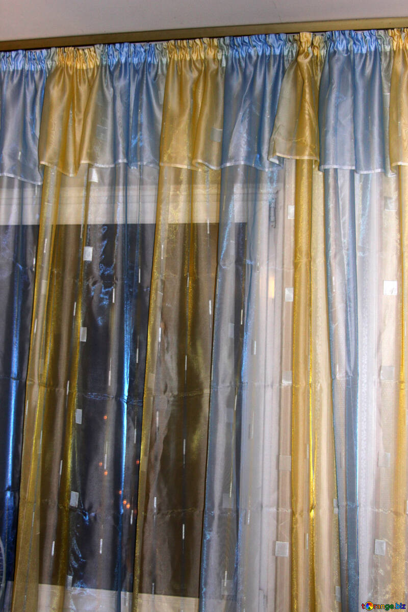 Colored organza curtains №980