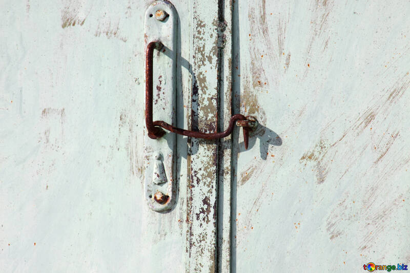Old metal pen with union hook on the gate. №757