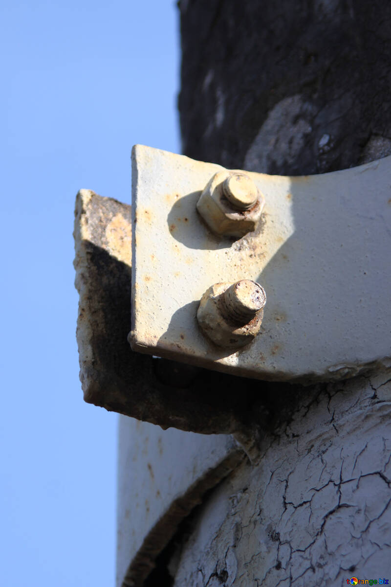 Fixing metal clamp on pole №901