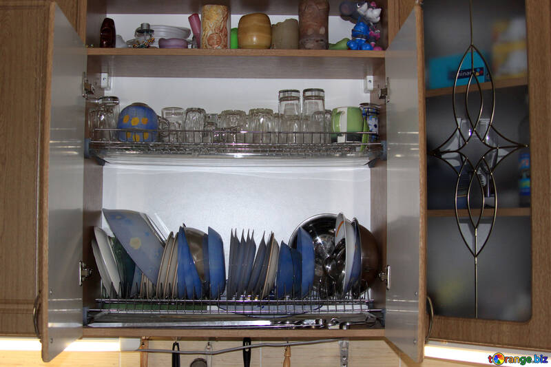 Drying kitchen with utensils №789