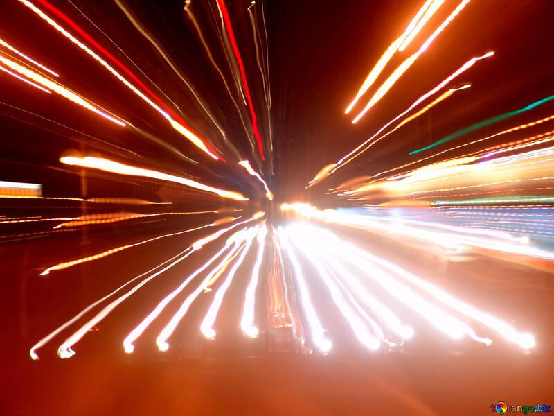 Light fan. Night road №639