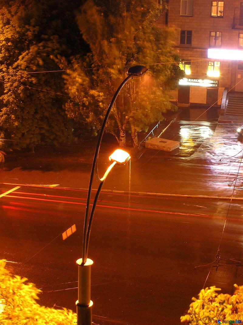 Night lantern during rain №209