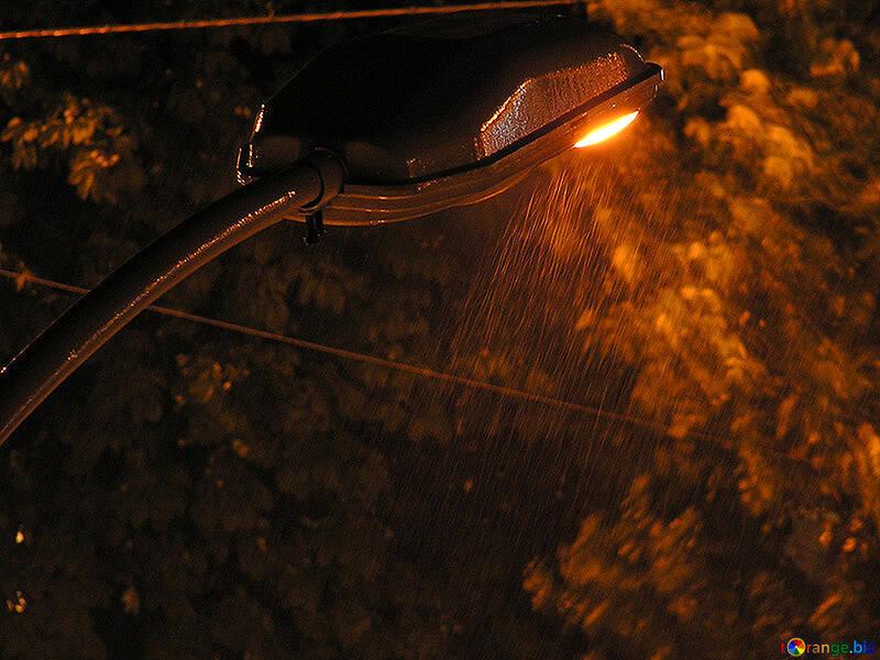 Night light and slanting rain №211