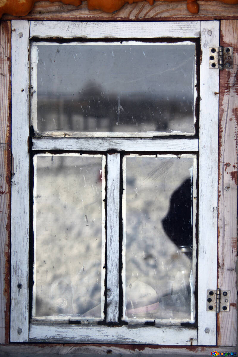 Old window with faded paint №844