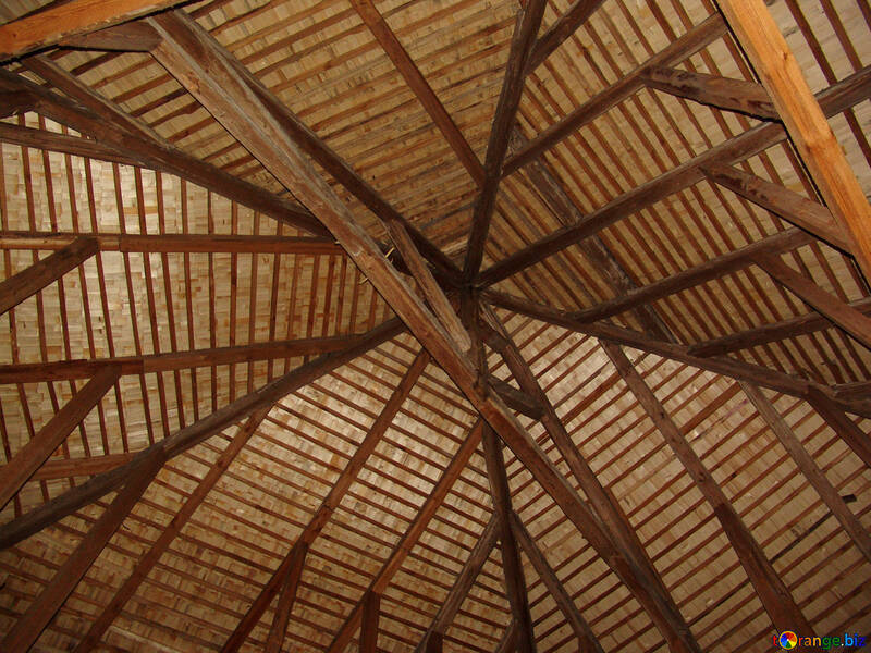 The dome-shaped roof inside view on the Roof №353
