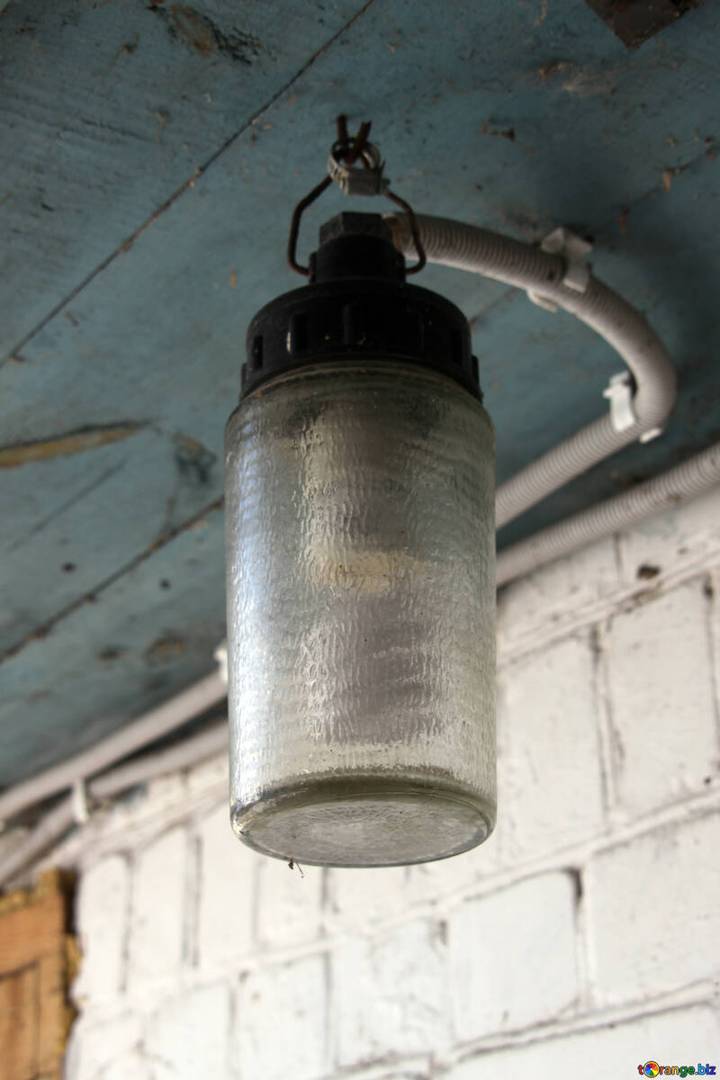 Street lamps waterproof against brick wall №509