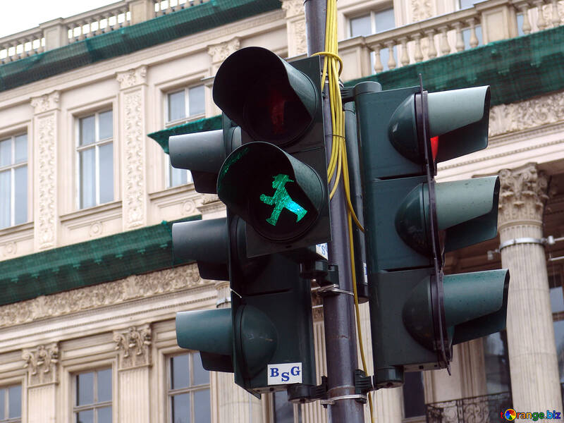 Green traffic light to pedestrians, red to cars №238