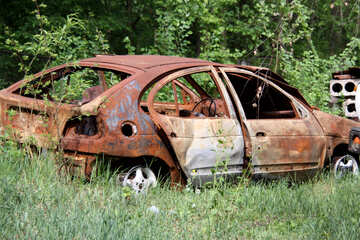 The burnt down car №1588