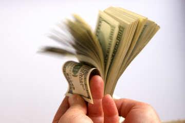 Dollars in den Händen der №1518