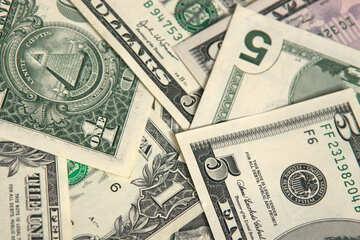 Dollars on the desktop. Background. №1501