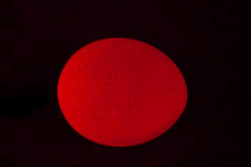 Glowing red egg №1150