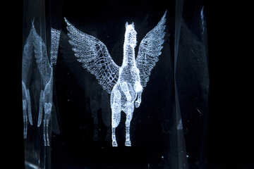 Pegasus. Glass. №1314
