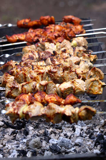 Preparation of kebabs on the grill №1574