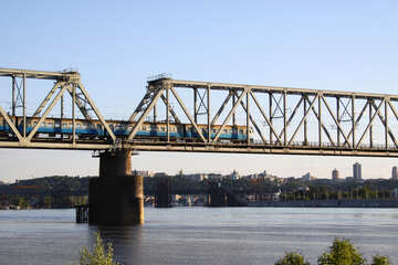 Bridge. Train №1893