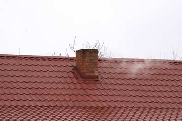 Chimney on the roof of metal №1229