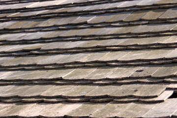 Coperto di tegoli tetti Struttura. №1087
