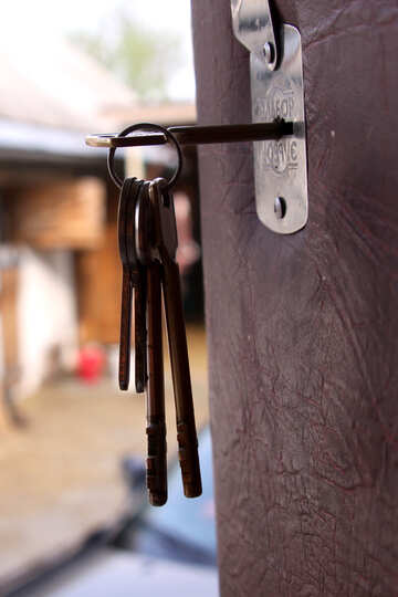 Open the door. The key in the lock №1694