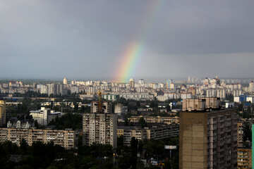 A rainbow over the city №1877