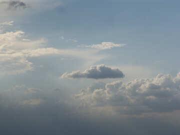 Cumulus clouds in blue sky №2000