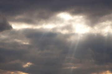 Ray of sun on the dark sky №1112