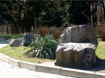 The large stones in the garden №1403