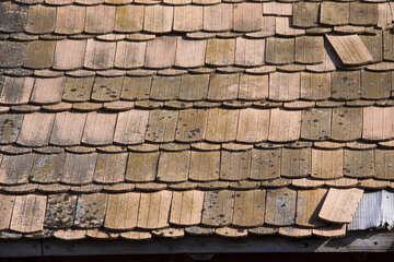 Vecchio argilla mattonelle struttura №1086