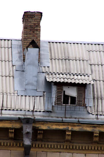 Ventilation and attic window on the roof №1367