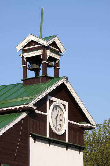 The bell tower with clock №1740