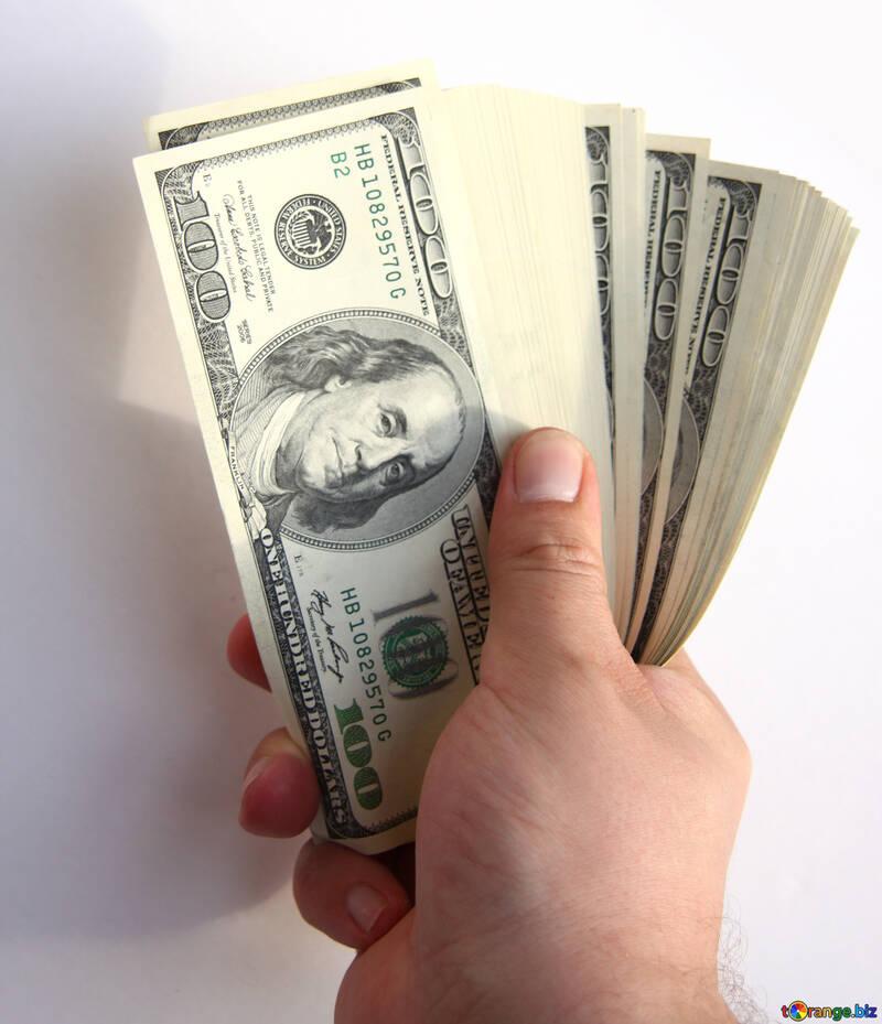 Fan of hundred-dollar bills №1528
