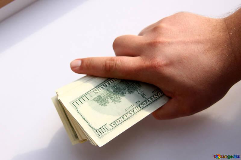 Рука дает доллары №1527