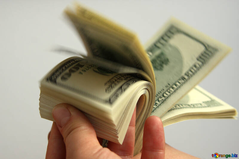 Dollars in fingers №1513