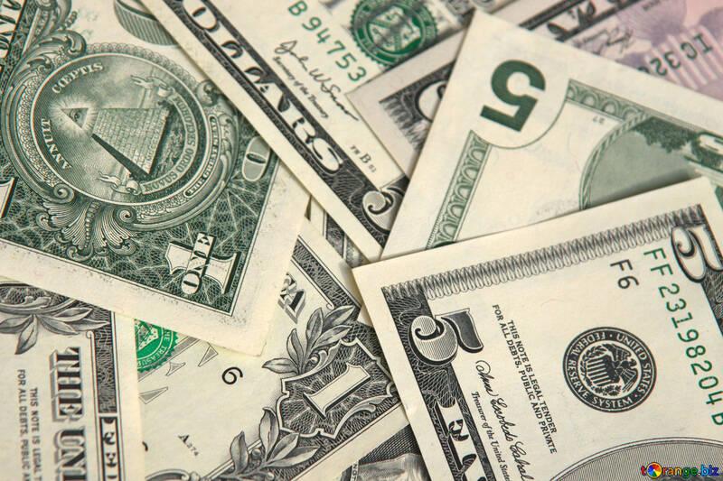 Доллары на рабочий стол. Фон. №1501