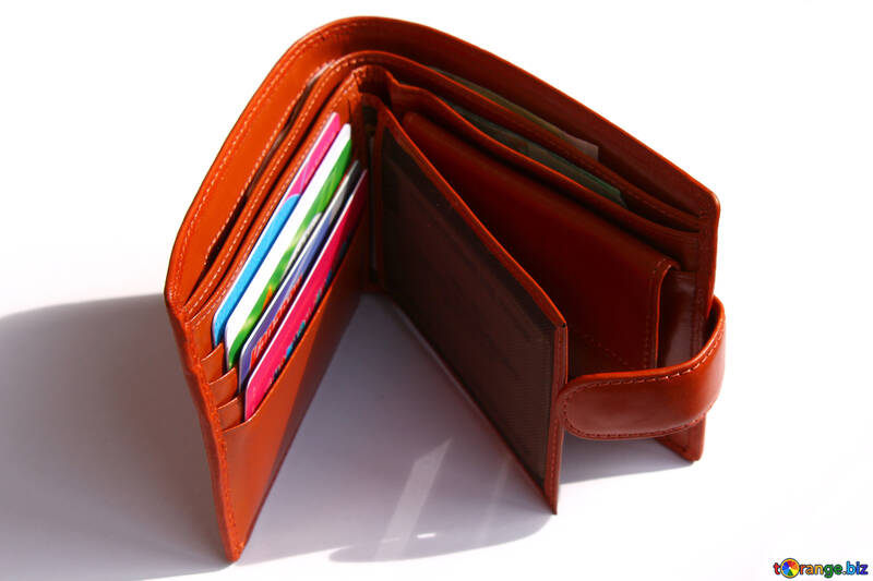 Wallet with credit cards №1372