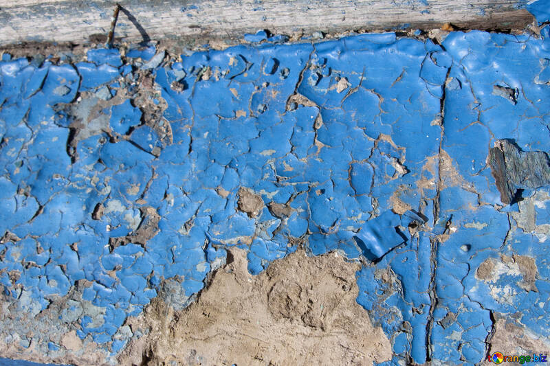 The blue paint is chipping and cracked №1077