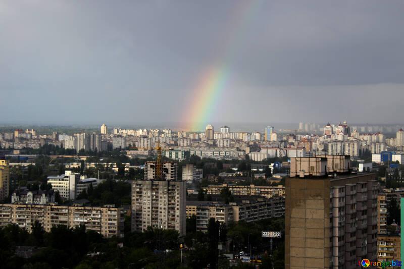 A rainbow over the city №1877