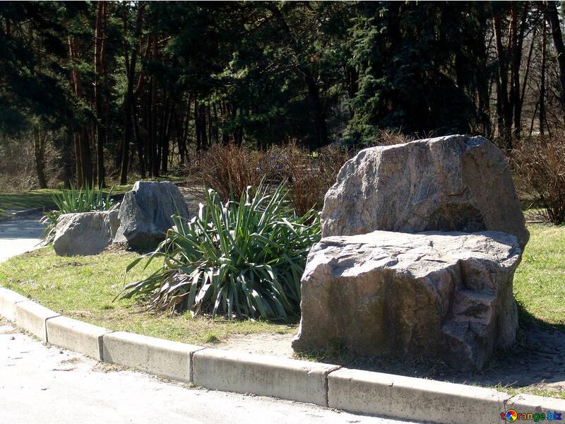 Steine Sind Grosse Steine Im Garten Berge 1403