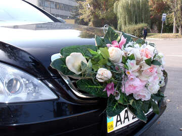 Wedding  bouquet  at  car №10094