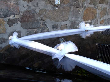 Wedding  Ribbon  at  car №10086