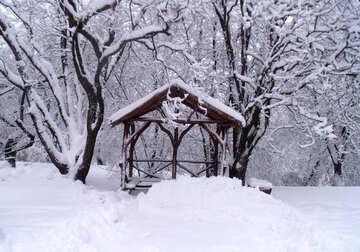 Gazebo    snow №10557