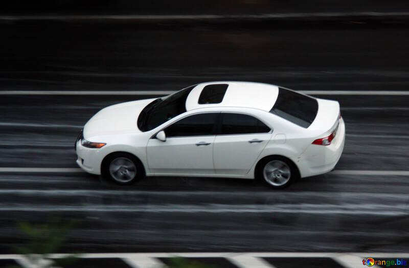 Bianco automobile pioggia №10956