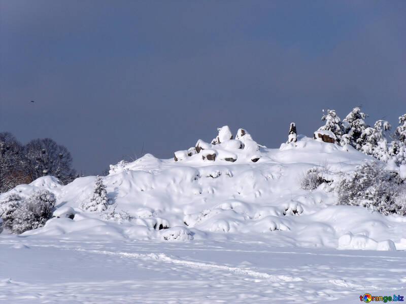 Stone  Garden  and   snow №10500