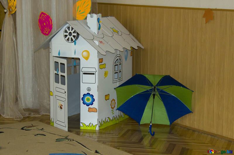 Jeux d'enfants enfants maison de carton jouets № 10846