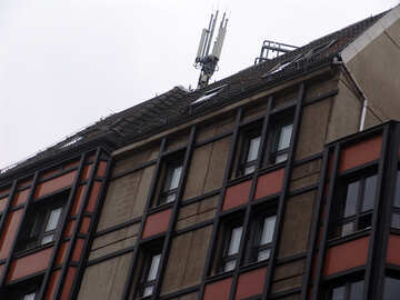 Cellular antennas on the roof №11922
