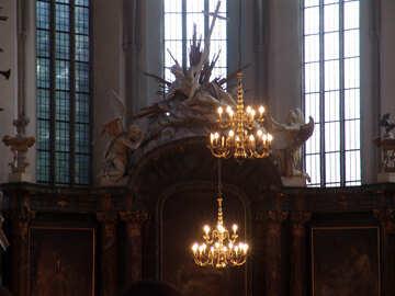 Antique chandelier №11994