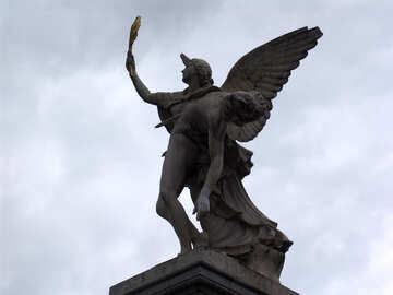 Sculpture Iris escorts fallen soldiers to the Olympus 1857 №11817