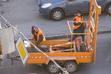 Ausrüstung  für  Reparatur  Straße №11368